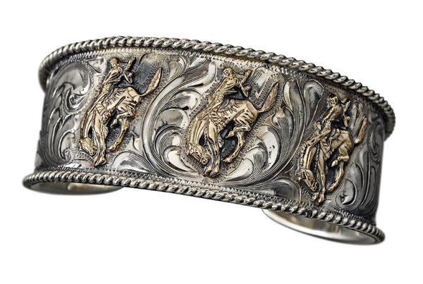 Small Pendleton Round-Up Vogt 3 Horse Cuff
