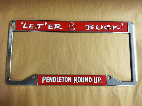 Pendleton Round-Up License Plate Frame