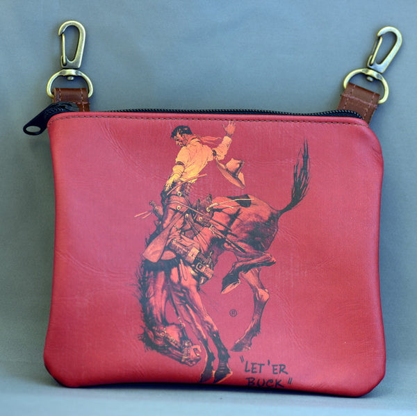 Red Pendleton Round-Up Leather Hip Pouch