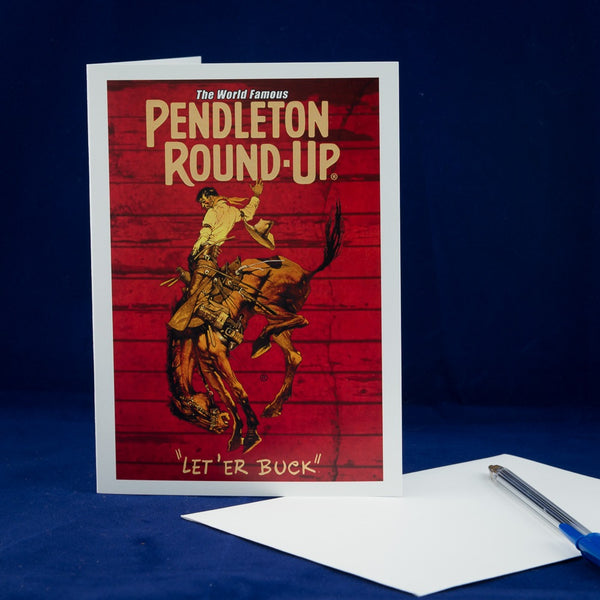 Single Pendleton Round-Up Barnwood Greeting Card