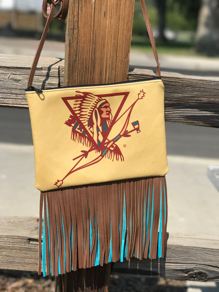Happy Canyon Cross Body Purse w/ Fringe