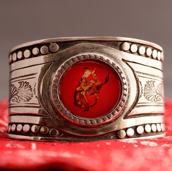 Pewter Pendleton Round-Up Cuff with Red Face