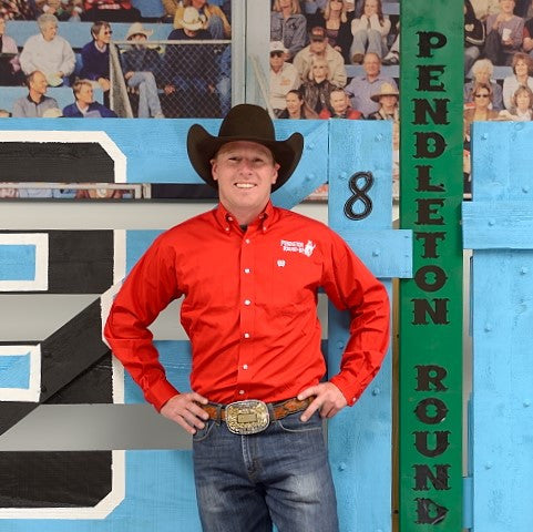 Men's Red Pendleton Round-Up Long Sleeve Cinch