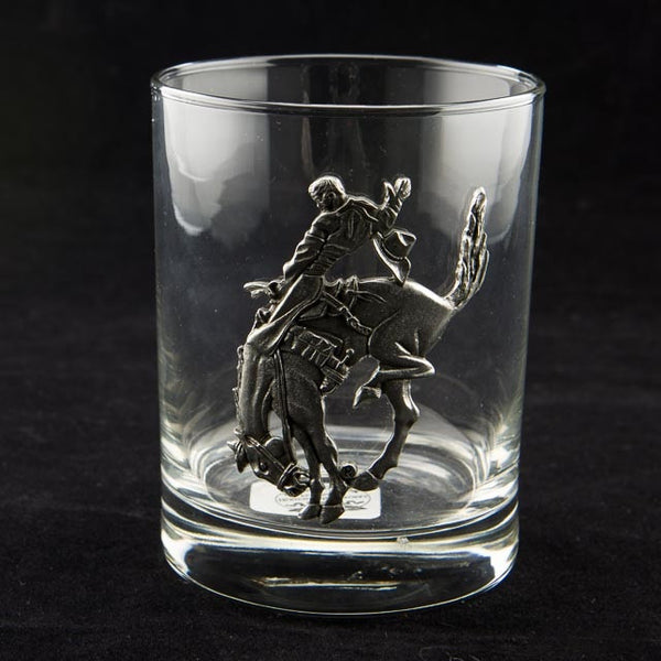 Pendleton Round-Up Pewter Double Old Fashioned Glass