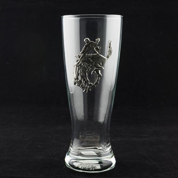 Pendleton Round-Up Pewter Footed Pilsner Glass