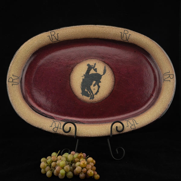 Pendleton Round-Up Large Oval Pottery Platter