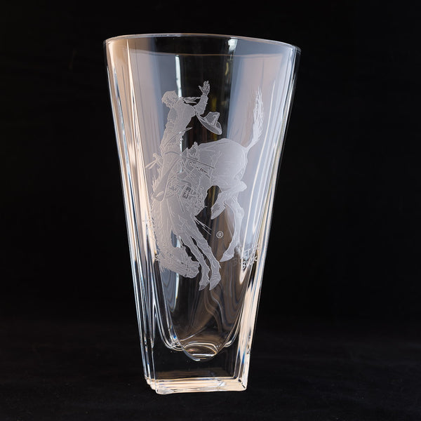 Pendleton Round-Up Crystal Vase