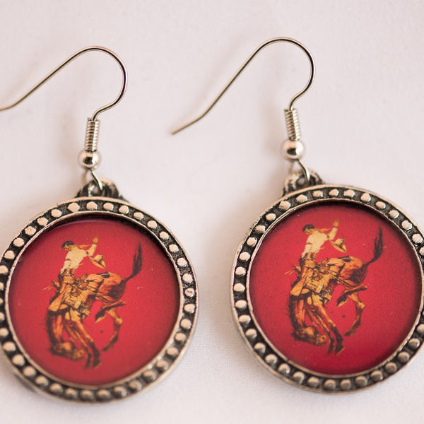 Pendleton Round-Up Pewter Earrings