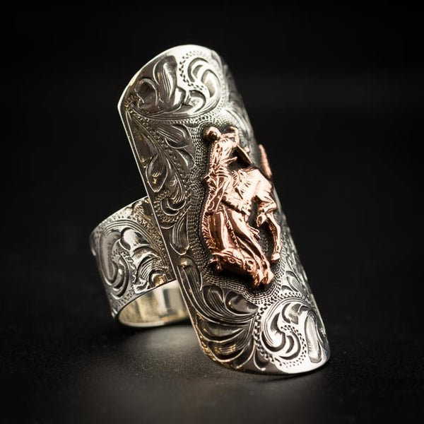 Pendleton Round-Up Vogt Copper Bucking Horse Ring
