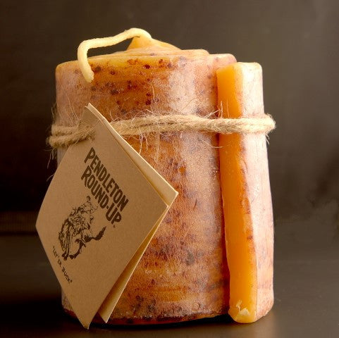 Pendleton Round-Up Cinnamon Roll Beeswax Candle