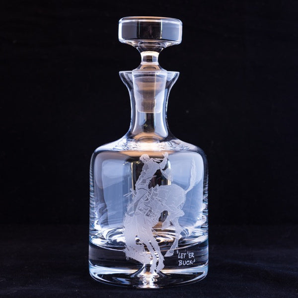 Pendleton Round-Up Engraved Crystal Decanter