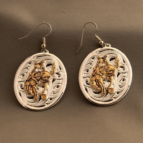 Pendleton Round-Up Montana Silversmiths Oval Filigree Earrings