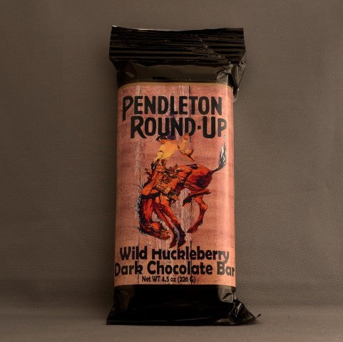 Pendleton Round-Up Wild Huckleberry Dark Chocolate Bar