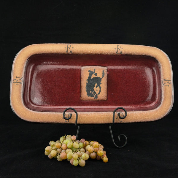 Pendleton Round-Up Small Rectangular Pottery Platter