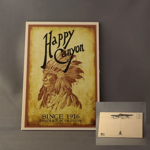 Happy Canyon Centennial Wooden Postcard