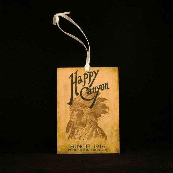 Happy Canyon Centennial Wooden Gift Tag