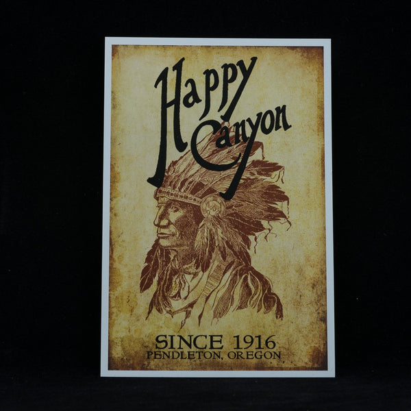 Happy Canyon Centennial Postcard
