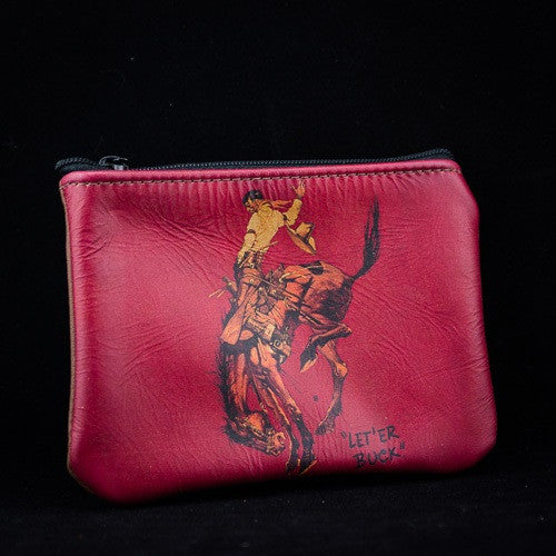 Red Pendleton Round-Up Coin Purse
