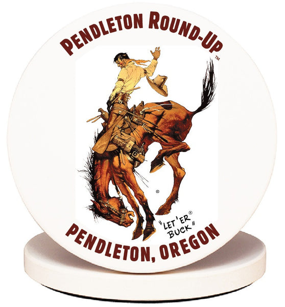 Pendleton Round-Up Stoneware Coaster