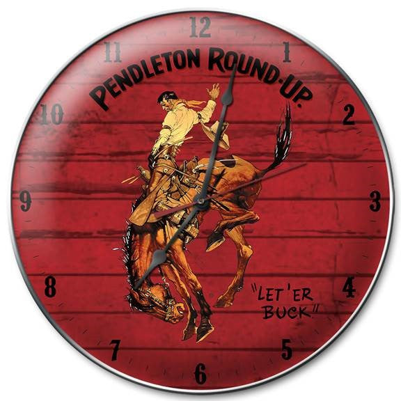 Pendleton Round-Up Barnwood Clock