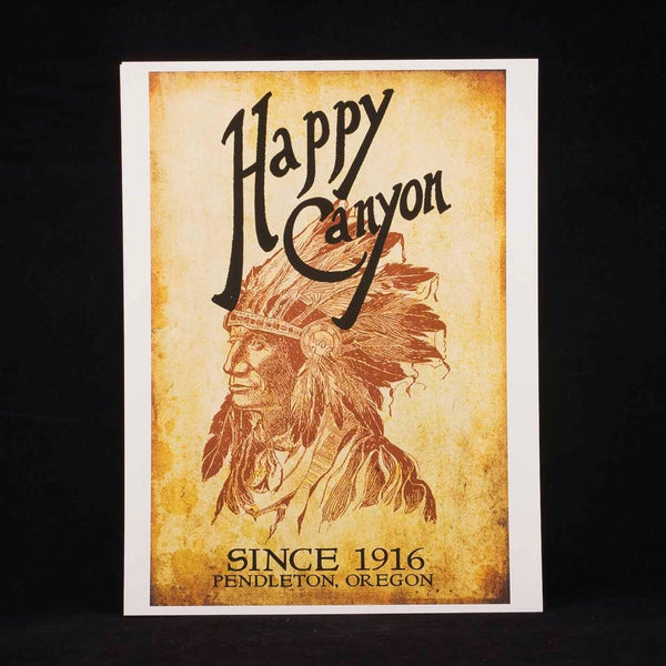 9x12 Happy Canyon Centennial Poster