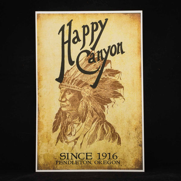 12x18 Happy Canyon Centennial Poster