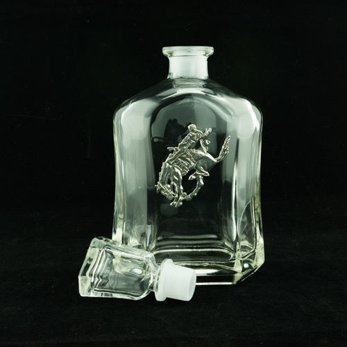 Pendleton Round-Up Pewter Decanter
