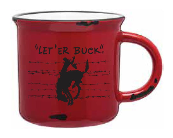 Pendleton Round-Up Distressed Barbed Wire Mug