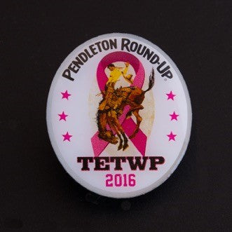 Pendleton Round-Up 2016 Tough Enough To Wear Pink Lapel Pin