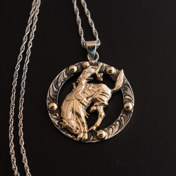 Pendleton Round-Up Vogt Bucking Horse Necklace
