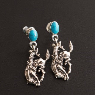 Pendleton Round-Up Vogt Turquoise Post Earrings