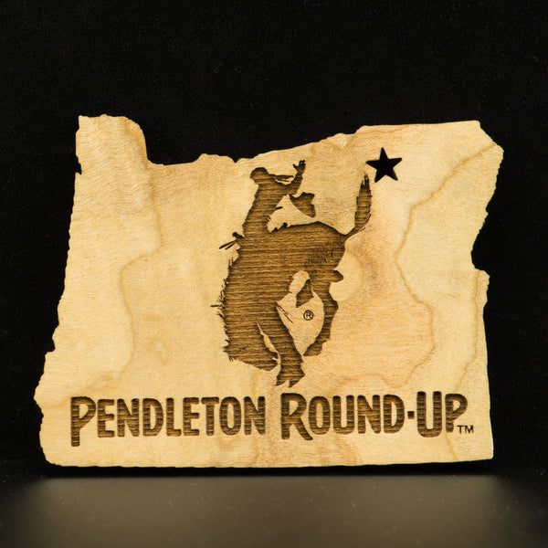 Wood Pendleton Round-Up Oregon Cut Out Magnet