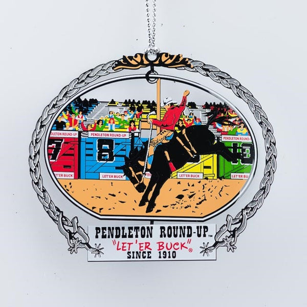 Pendleton Round-Up Dangle Christmas Ornament