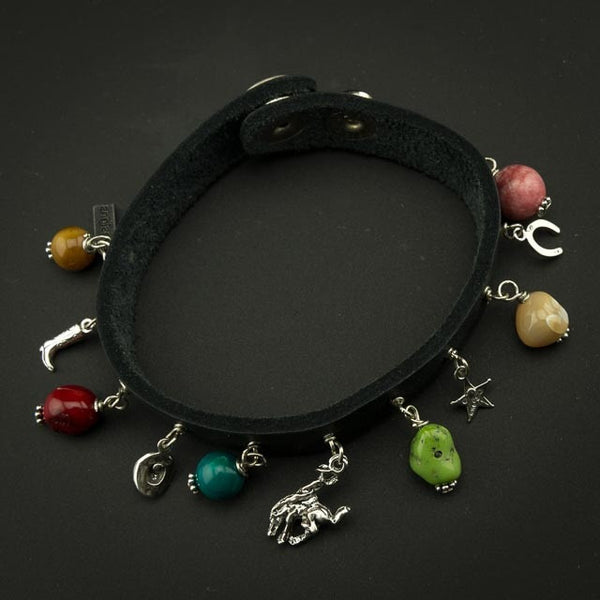 Pendleton Round-Up Paige Wallace Leather & Stone Bracelet