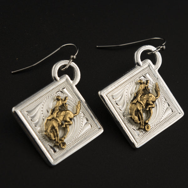 Pendleton Round-Up Diamond Filigree Montana Silversmiths Earrings