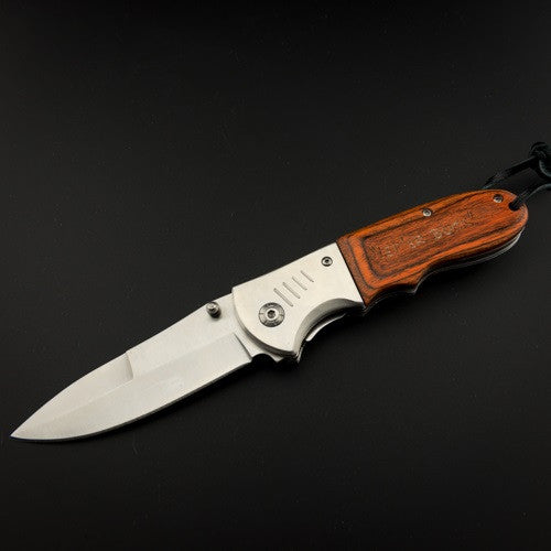 Pendleton Round-Up Teak Folding Knife