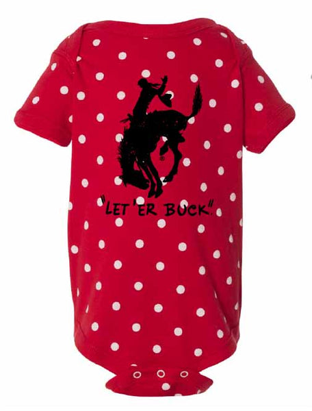 Pendleton Round-Up Red Polka Dot Onesie