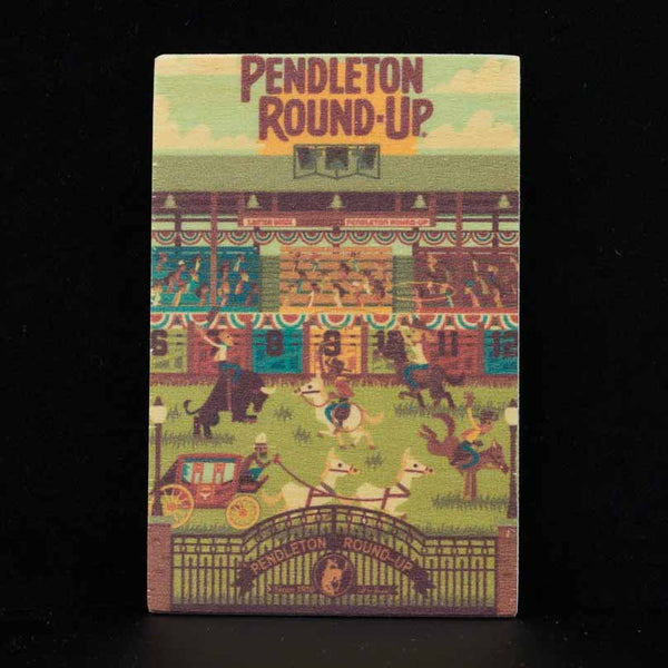 Pendleton Round-Up Wooden Geometric Magnet