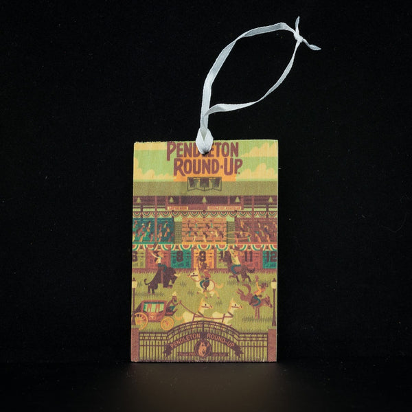 Pendleton Round-Up Wooden Gift Tag: Geometric
