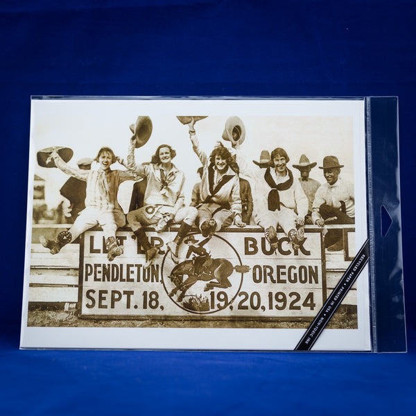 12x18 Pendleton Round-Up Four Cowgirls Poster