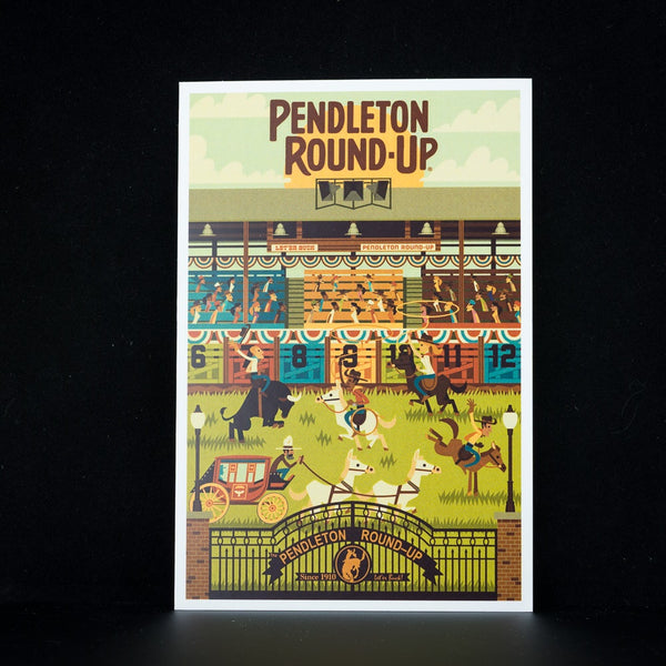 Pendleton Round-Up Geometric Postcard
