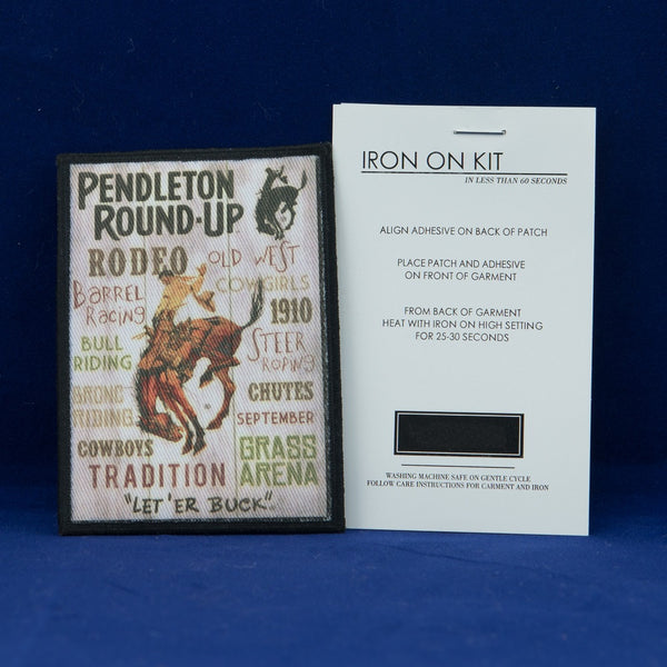 Pendleton Round-Up Typography Collectible Iron-On Patch