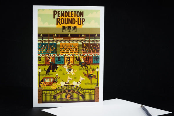 Single Pendleton Round-Up Geometric Greeting Card