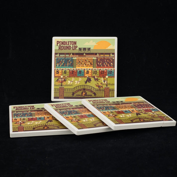 Pendleton Round-Up Geometric Coaster Set