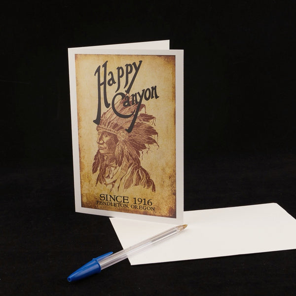 Single Happy Canyon Centennial Greeting Card
