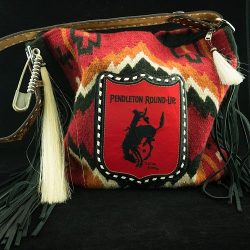 Red Raider Saddle Blanket Tote w/ Pendleton Round-Up Back Number Patch (Pre-Order)