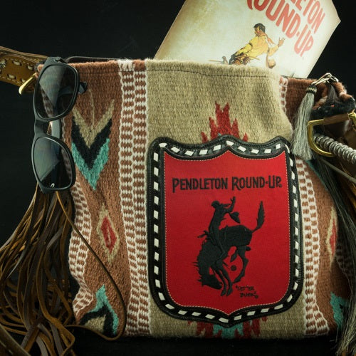 The Zia Saddle Blanket Tote w/ Pendleton Round-Up Back Number Patch (Pre-Order)