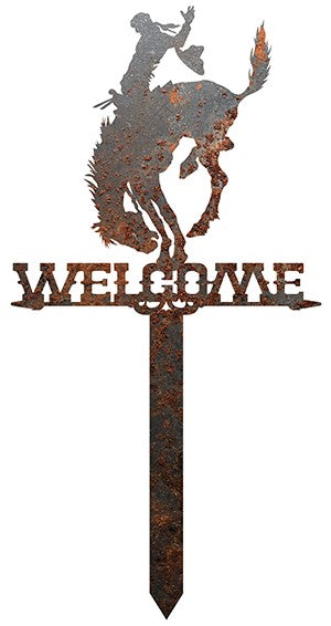 Pendleton Round-Up Rusted Welcome Garden Stake