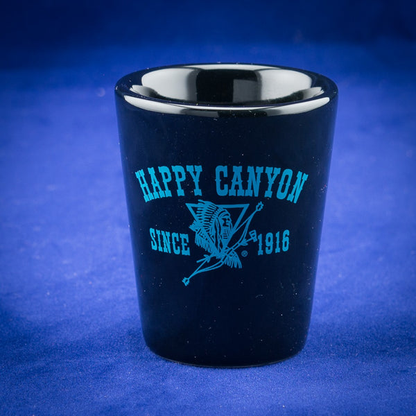 Happy Canyon Black & Turquoise Shot Glass
