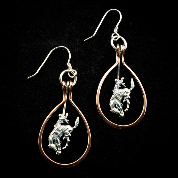 Pendleton Round-Up Vogt Copper Wire Earrings